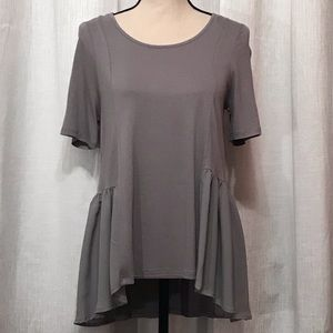 About a girl large grey blouse